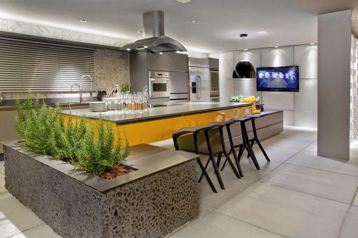 Cozinhas com ilhas - veja dicas + 30 modelos de ilhas de cocção e refeição maravilhosas! - DecorSalteado