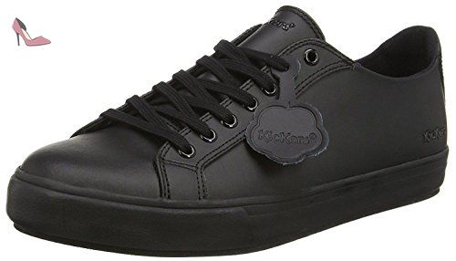 Kickers Tovni Lacer Black Mens Leather Trainers Shoes-44 - Chaussures kickers (*Partner-Link)