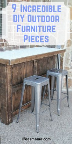 Now that the weather is warming up with the approach of Spring and Summer, it's creating a desire in all of us to spend a little more time outside.  Yes, you can go buy furniture for your guests, but there are also great DY outdoor furniture pieces you can make as well! Here are 9 of the best.
