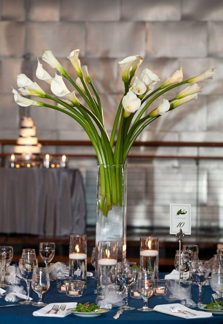 Tischdeko Mit Weissen Callas In Glasvase Callas Glasvase Mit Tischdeko Weissen Table Decorations Calla Decor