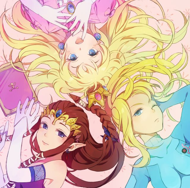 Peach, Zelda, and Samus #lyingdown