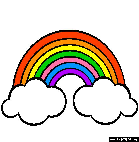 Rainbows Coloring Page   Free Rainbows Online Colo ...
