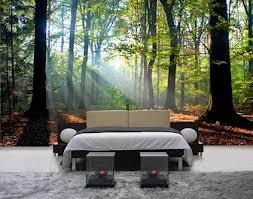 mural forest bedroom