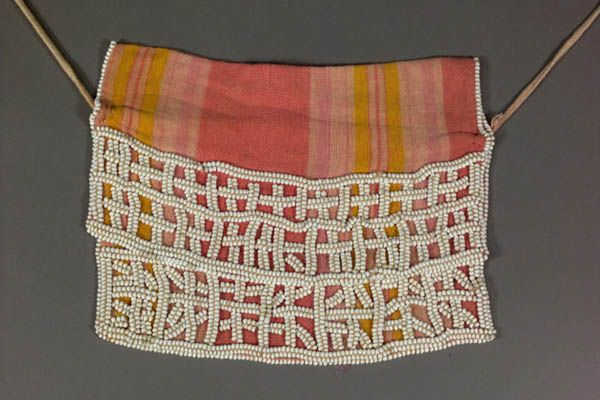 Baroka People, Botswana, Letsotho and South Africa Girl's Initiation Apron (thito) Ca. 1970 Cotton cloth, glass beads, fiber, cord Gift of N...
