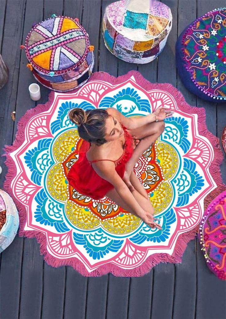 Yoga Inspired Beach-Towel/Mat