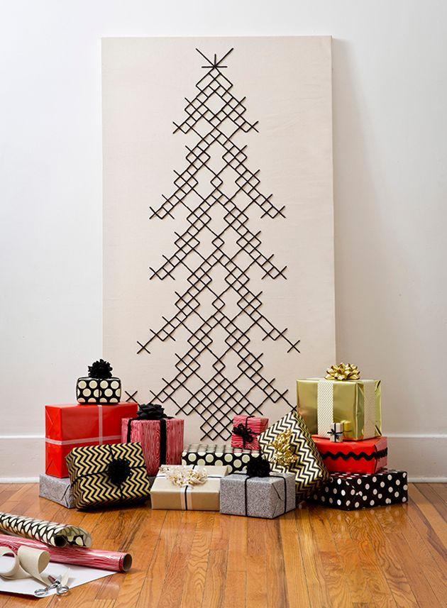 Why deal with the hassle of a real tree when you can make these 10 alternative diy ones?!
