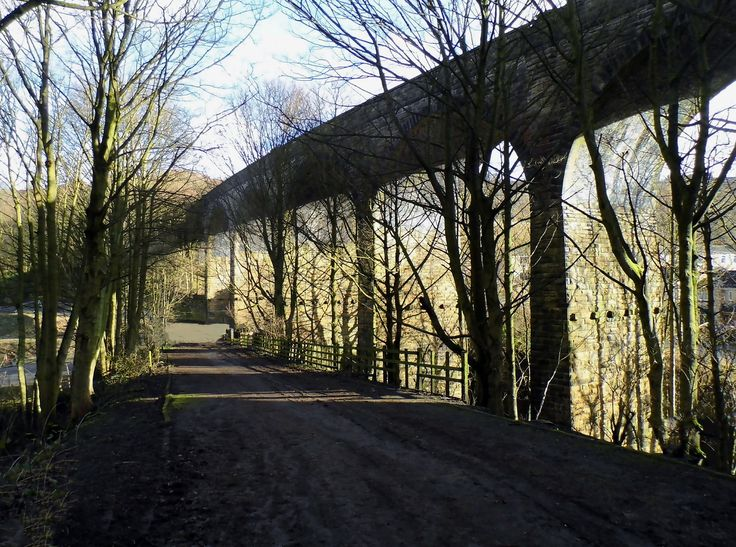 Taken underneath the former Halifax High Level Railway crossing of Wheatley Viaduct. The line has been closed since 1960 but the viaduct is a long standing reminder that the railway used to cross the valley here before passing the former Websters Brewery site on its journey from Holmfield to King Cross.