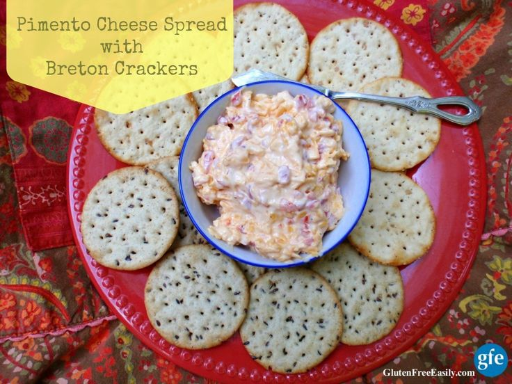 Gluten-Free Pimento Cheese Spread with Breton Crackers