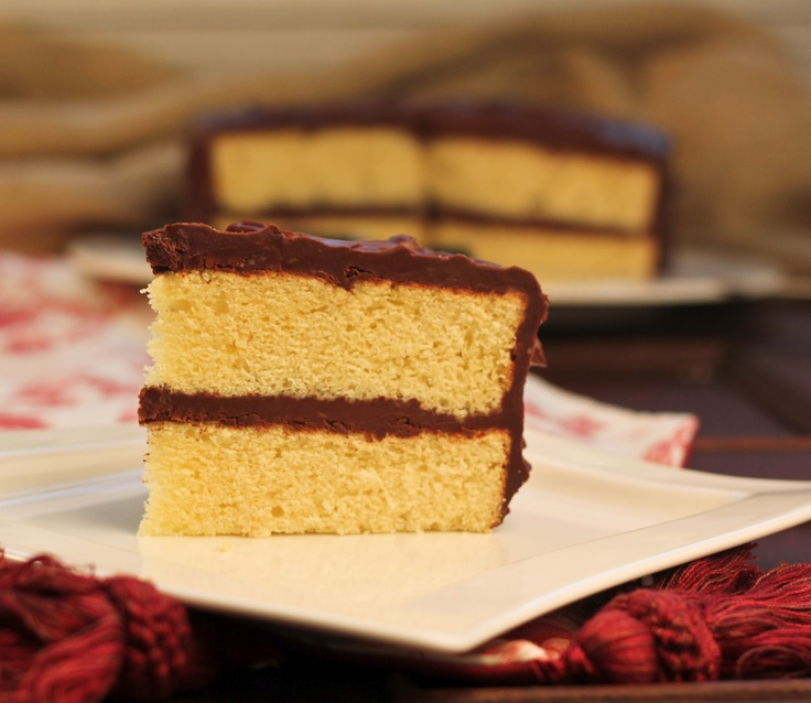 Yellow Butter Cake with Chocolate Icing…Secret Recipe Club~