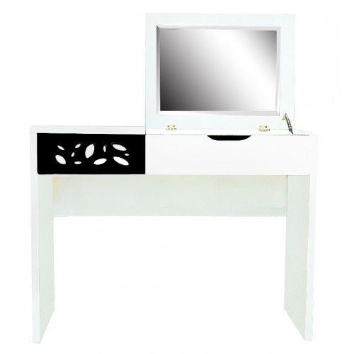 Trentino Black + White High Gloss Dressing Table
