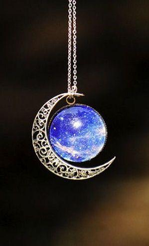 Galaxy Moon Necklace ❤︎