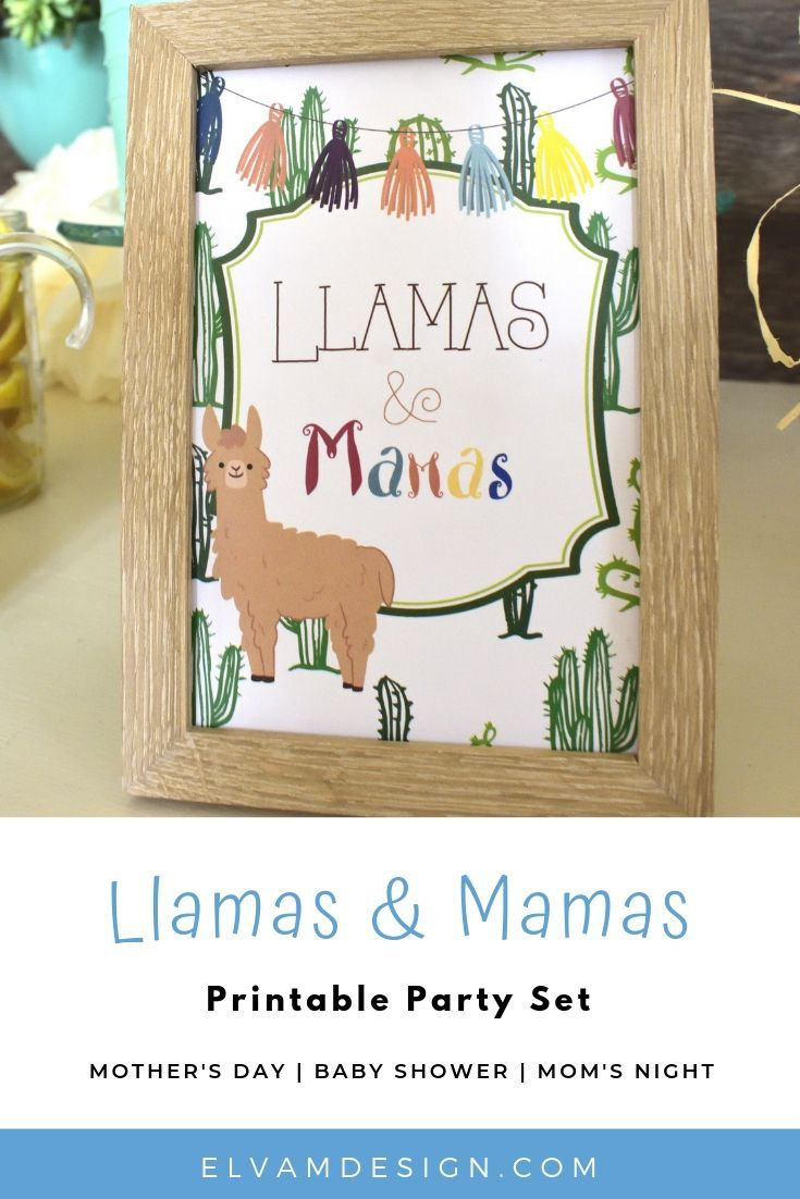 7bb26ab5d Llamas   Mamas printables bring this party theme to life. Use it for Mother s  Day