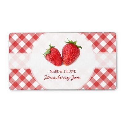 Strawberry Jam label Shipping Label from Zazzle.com
