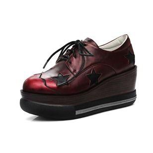 Frauen Stiefel Stiefelette Keil Absatz Kunstleder Schuhe