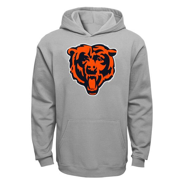 Chicago Bears Youth Current Logo Pullover Hoodie - Gray - $44.99