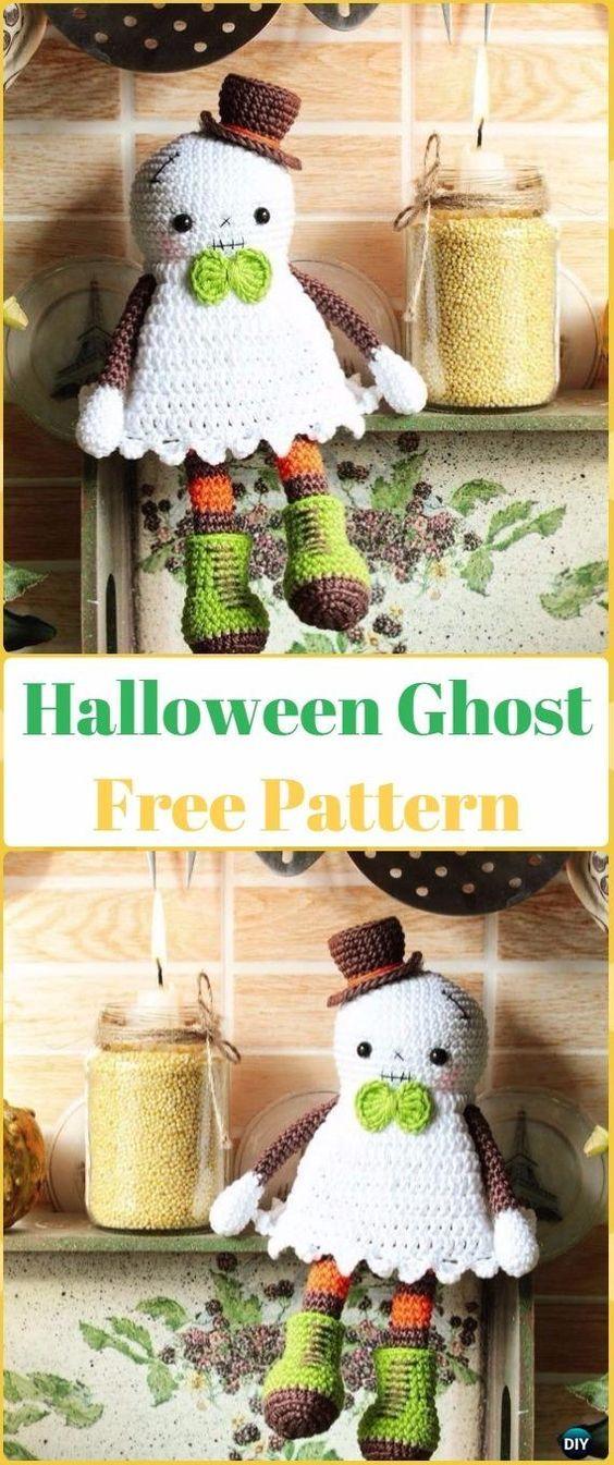 Crochet Halloween Ghost Amigurumi Free Pattern -Crochet Halloween Amigurumi Free Patterns