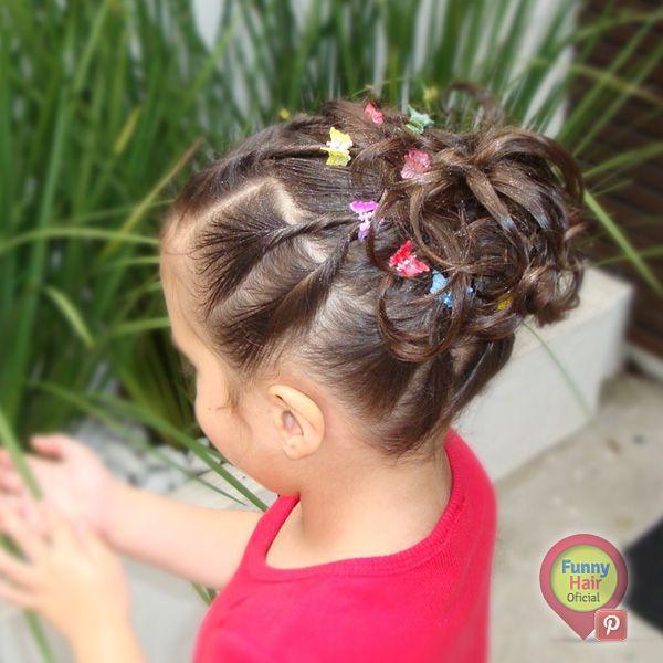 Penteados para meninas. Borboletas.