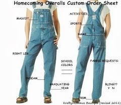 decorated overalls homecoming   Order your Homecoming Overalls Here