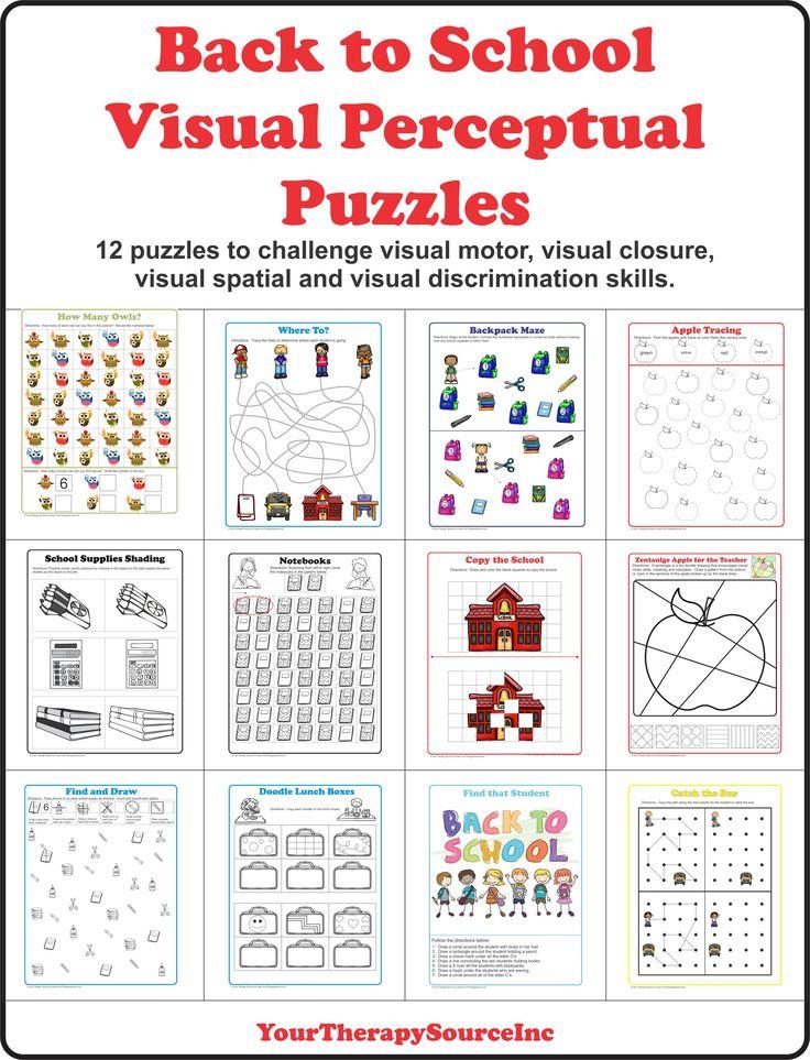 Puzzels die de ontwikkeling van visuele perceptie stimuleren