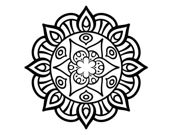 Dibujo de Mandala vida vegetal para Colorear