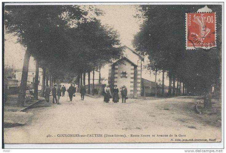 COULONGES SUR L'AUTIZE - Route Neuve Et Avenue De La Gare - Coulonges-sur-l'Autize