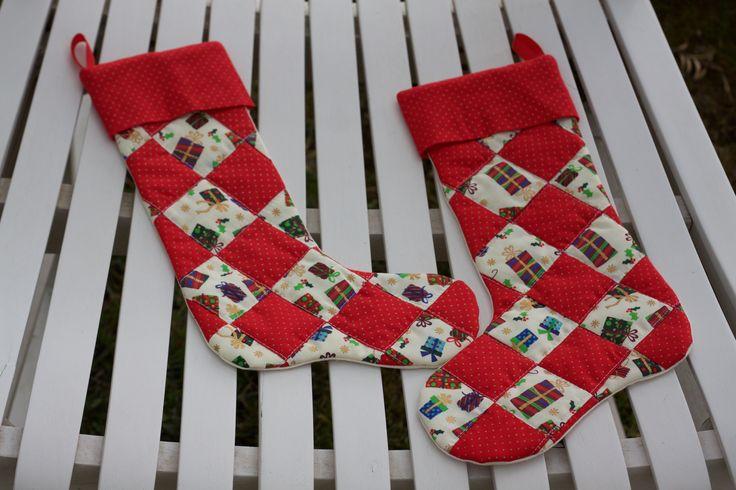 Avvio di Natale / Christmas boot/ Christmas sock / la metà di Natale