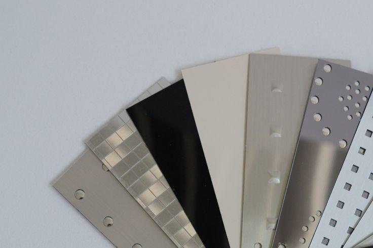 Spezialbeschichtetes Polystyrol mit sog. Effektplatten; z. B. matte, glänzende oder spiegelnde Effekte, etc. Design von Objekten.