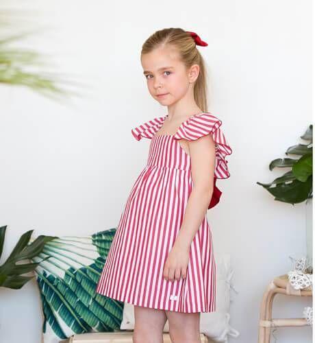 29e512ef516d NUEVO- Vestido niña rayas rojas de Eve Children