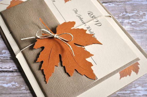 Fall Autumn Wedding Invitations Fall Wedding Invites on Etsy, $4.25