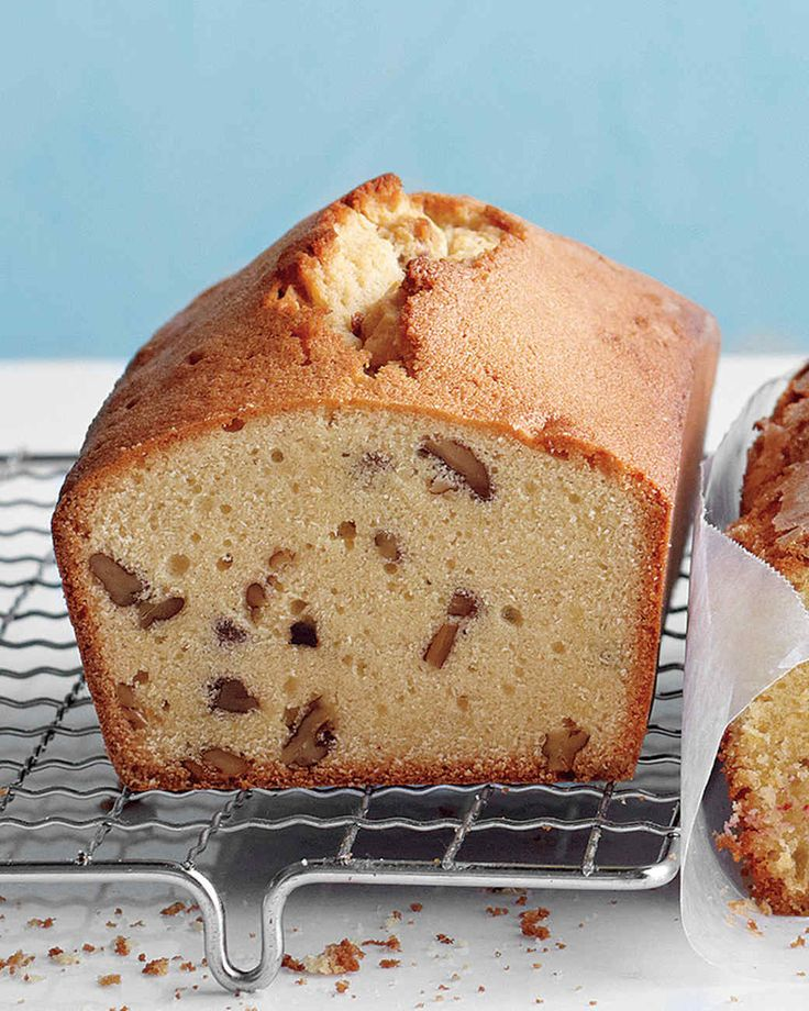 Brown Sugar, Maple, and Pecan Pound Cake- This pound cake is all about the earthy sweetness of maple syrup and the nutty crunch of toasted pecans.