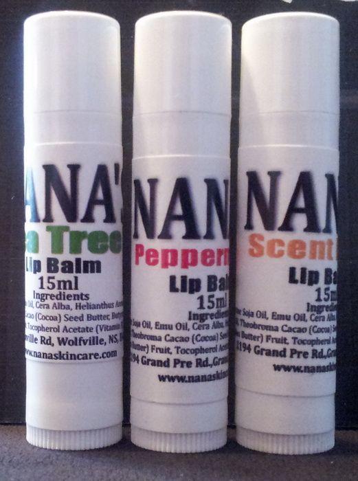 Nana's Emu Lip Balm 15ml... $5 each http://www.nanaskincare.com/