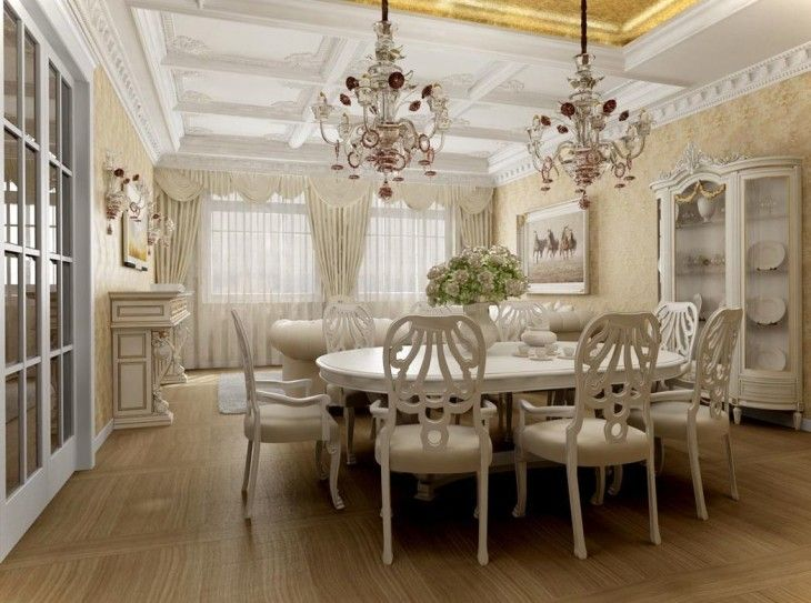 Other Design Astonishing Design For White Dining Room Decoration  - pictures, photos, images