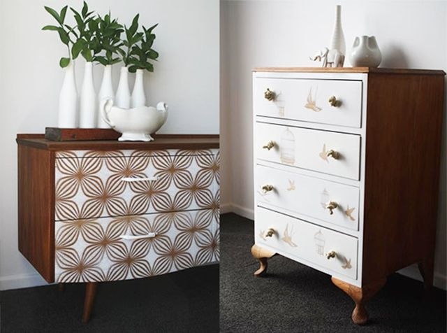 17 mejores ideas sobre comodas antigas en pinterest - Muebles pintados en plata ...