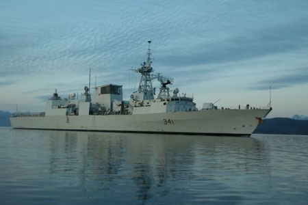 HMCS Ottawa, the ship I currently sail on.