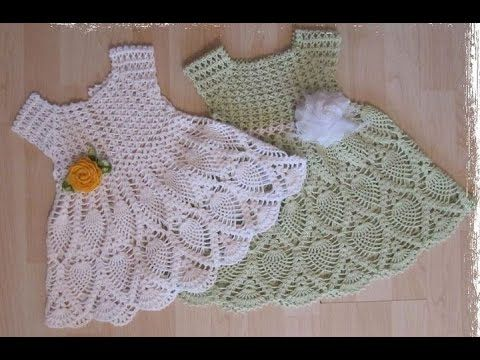 Crochet dress  How to crochet an easy shell stitch baby / girl's dress f...