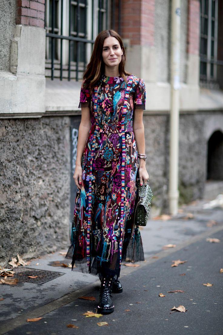 Street Style París con looks a todo color #parisfashionweeks,