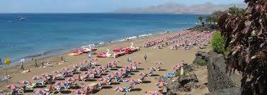 Puerto del carmen, PLaya Grande, Lanzarote. Here you can relax and sunbathe in peace.