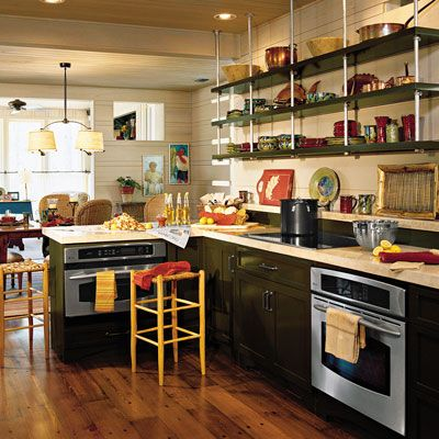 13 Best Kitchens Without Upper Cabinets Images On Pinterest Kitchens Kitchen Storage And