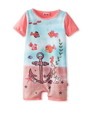 62% OFF Me Too Baby Girl's Romper (pink fish)