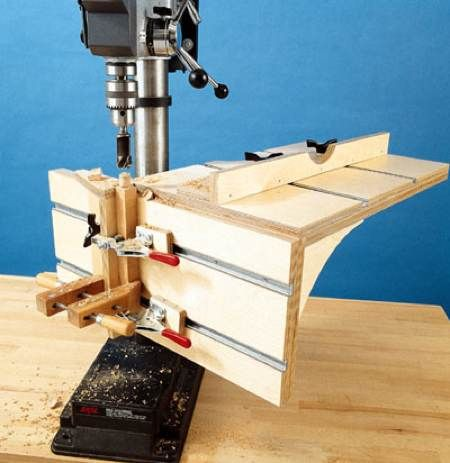 31-JG-1002 - Drill Press Table Jig Woodworking Plan | Wood working | Pinterest | The o'jays ...