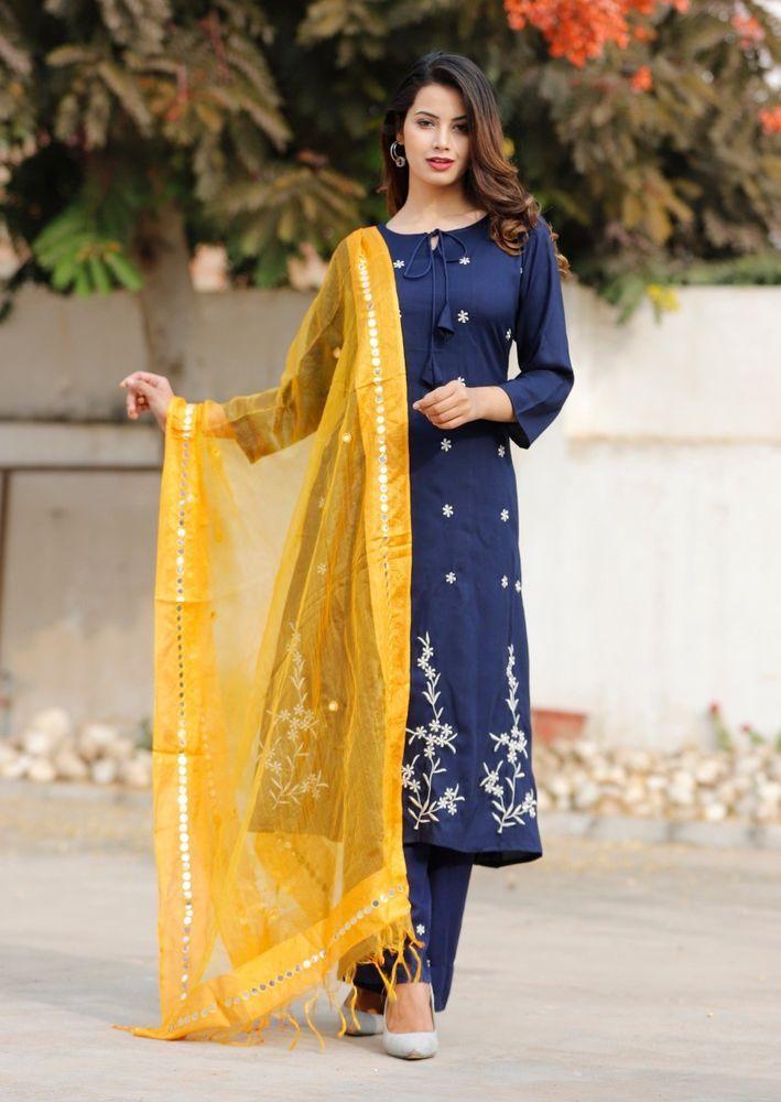 3aba07a5dc Indian kurta dress With dupatta pant Flared Top Tunic Set blouse Combo  Ethnic #Radhas #ALineDress #AnyOccasion