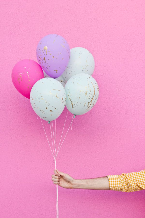 #DIY splattered ballons! #celebrateeveryday