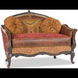 Rodeo chic love seat, Luxury fine home furnishings and high quality furniture for any home decor