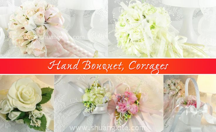 Hand Bouquet Corsages by Shuang Xi Le