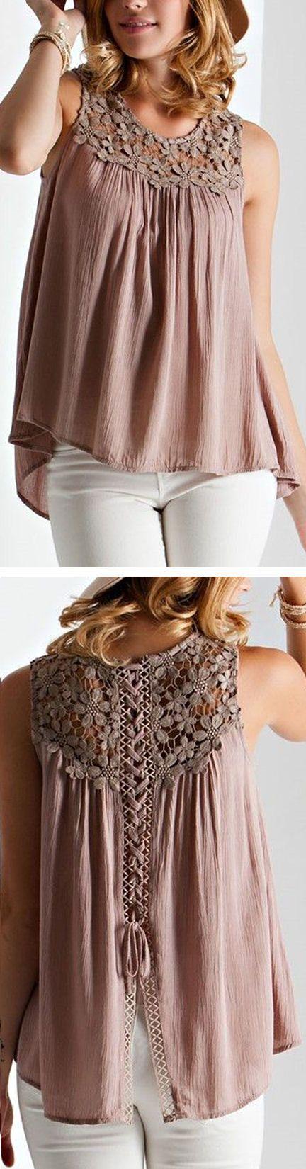 Crochet Lace Tank ❤︎                                                                                                                                                      Más