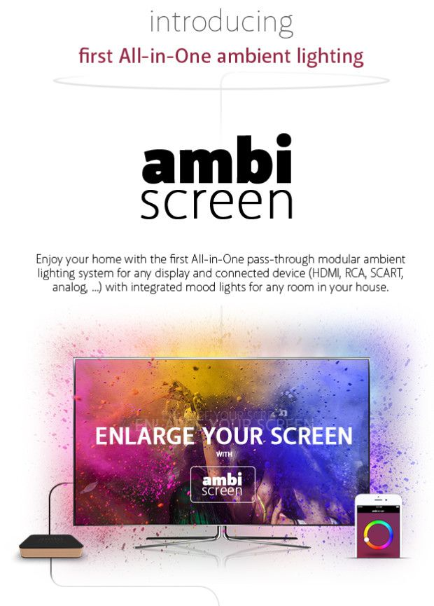 AmbiScreen - first All-in-One ambient lighting