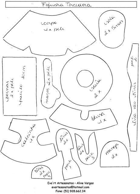 patrones fofuchas para imprimir - Google Search