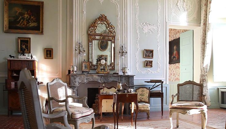 """Le Château d'Ansouis; located on the south of the massif du Luberon, in the """"département de Vaucluse"""", in the region Provence-Alpes-Côte d'Azur... where in its interiors, the eighteenth century; above all, is a story of great passion!"""