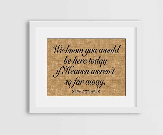 Check out this item in my Etsy shop https://www.etsy.com/ca/listing/289480787/we-know-you-would-be-here-today-if