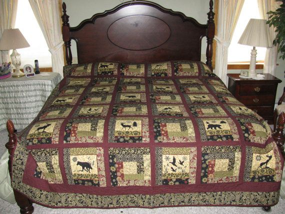 Queen or King size quilt with lots of by LakesideQuiltsbyFaye, $950.00
